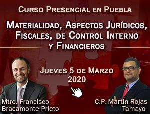 Materialidad - Aspectos Jurídicos, Fiscales, de Control Interno y Financieros